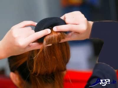 آموزش فر زدن روی موها با کمک جوراب