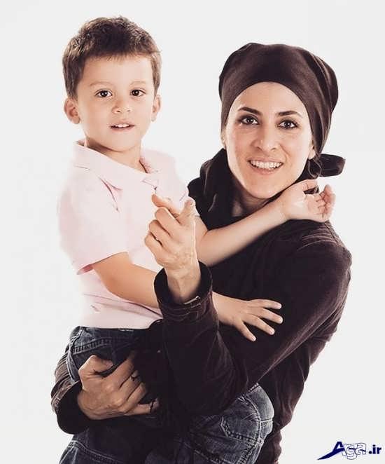 تصاویر ویشکا آسایش و پسرش