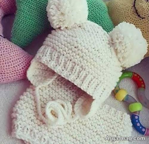 کلاه بافت نوزاد جذاب