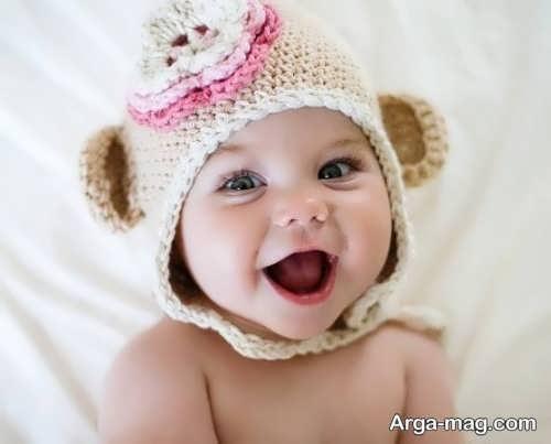 کلاه بافتنی نوزاد جالب