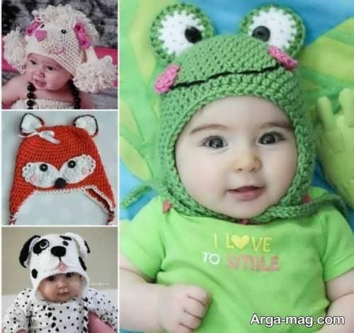 کلاه بافت زیبای نوزاد