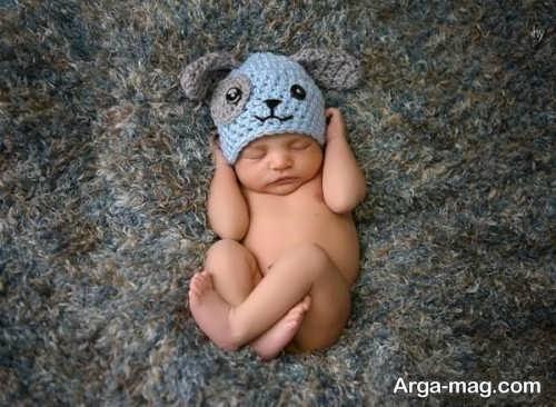 کلاه بافتنی نوزادی