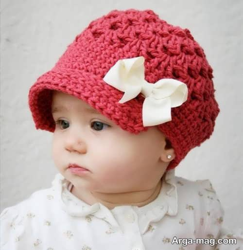 کلاه بافت زیبای نوزادی