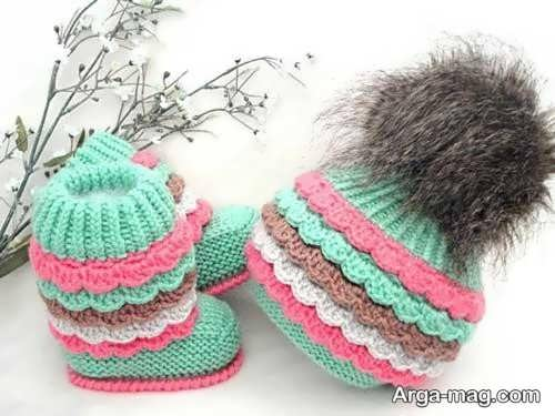 انواع کلاه بافت نوزاد