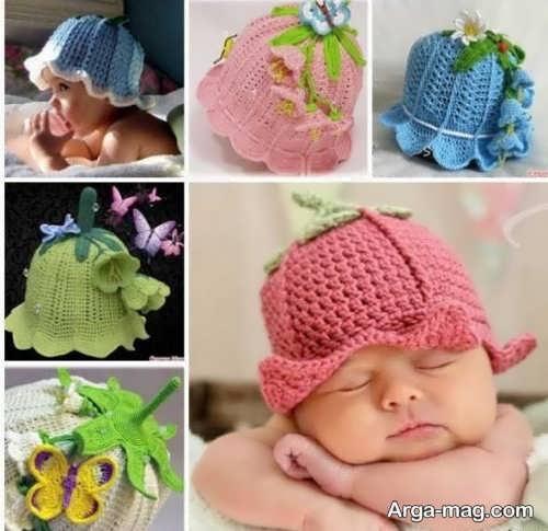 کلاه بافت نوزاد جدید