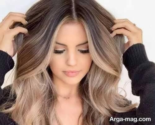 رنگ بیسکویتی برای موها