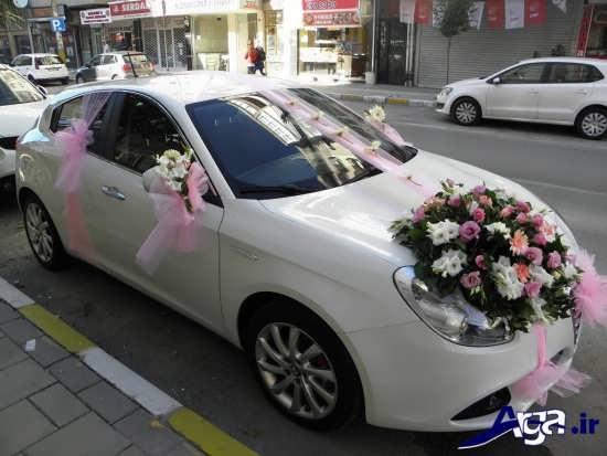 ماشین عروس سال 2017 با تزیین زیبا و متفاوت