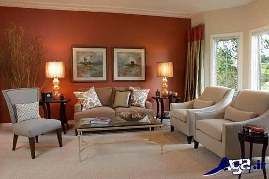 رنگ مناسب برای دیوار اتاق پذیرایی