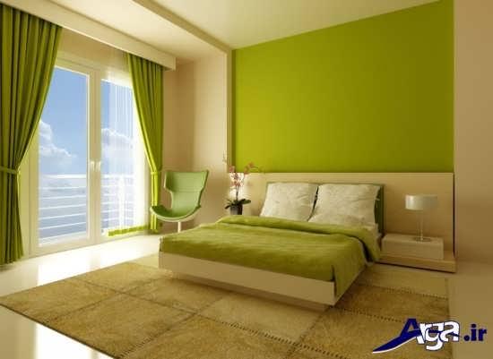 رنگ مناسب برای دیوار اتاق خواب دو نفره