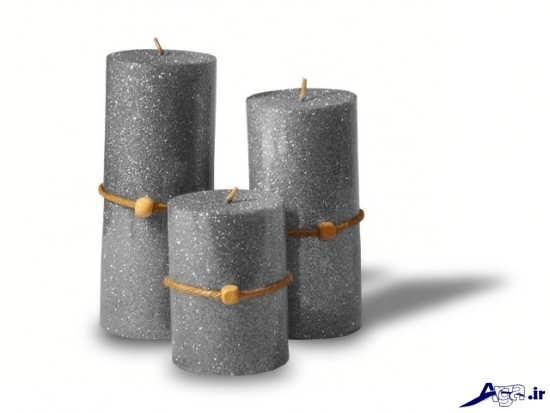 تزیین ساده شمع با اکلیل رنگی