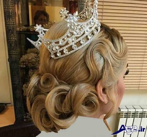 شینیون عروس با موی اضافی