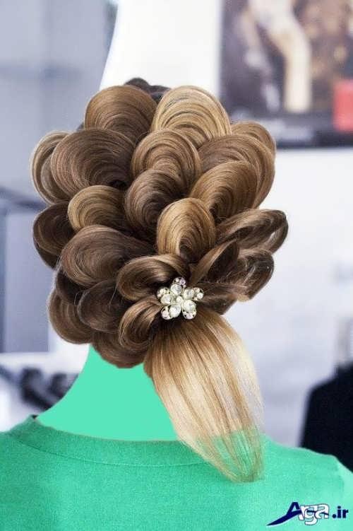 مدل شینیون مو با موهای اضافه