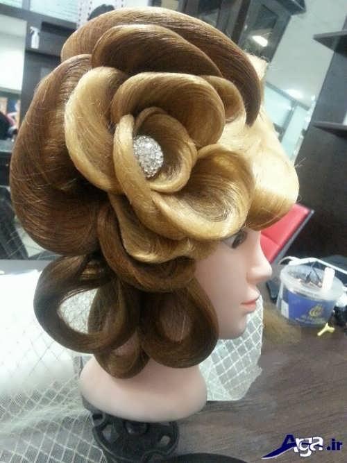 مدل شینیون گل با موی اضافه