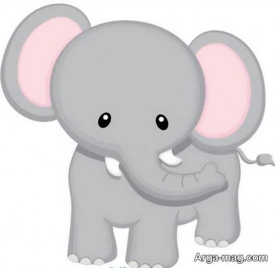 نقاشی بچگانه کارتونی از حیوانات