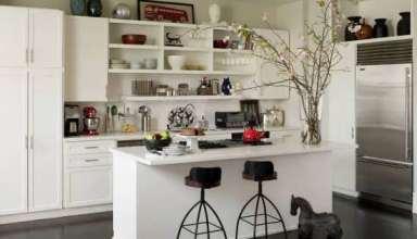 تزیینات اپن آشپزخانه با وسایل ساده