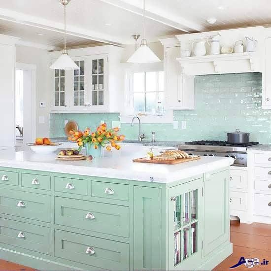 تزیین اپن آشپزخانه با وسایل ساده