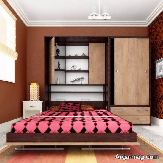 مدل تختخواب تاشو با طرحی خاص