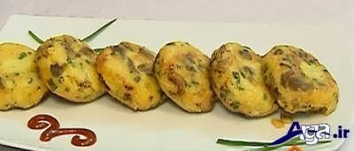 طرز تهیه کوکوی قارچ و سیب زمینی