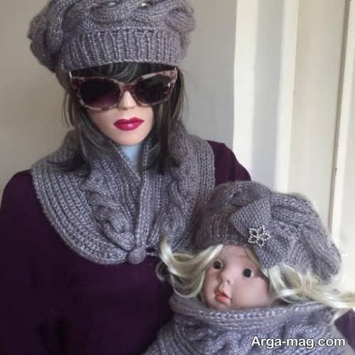 مدل شالگردن و کلاه دخترانه