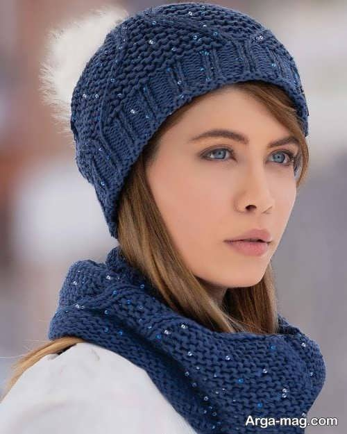 مدل شال و کلاه دخترونه زیبا