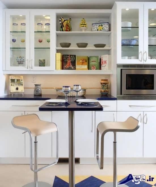 مدل کابینت شیشه ای آشپزخانه با طرح های مدرن و زیبا