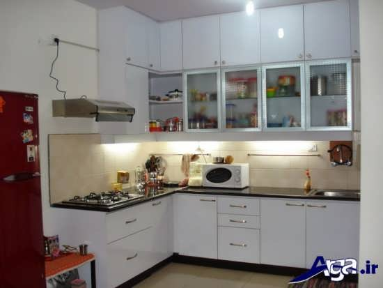 مدل کابینت شیشه ای برای آشپزخانه لوکس و مدرن
