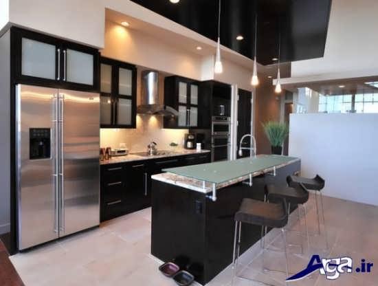 مدل کابینت شیشه ای آشپزخانه