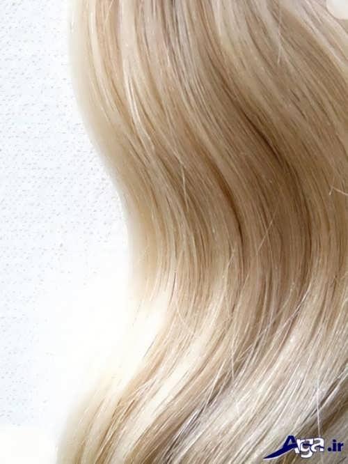 رنگ موی بلوند برفی