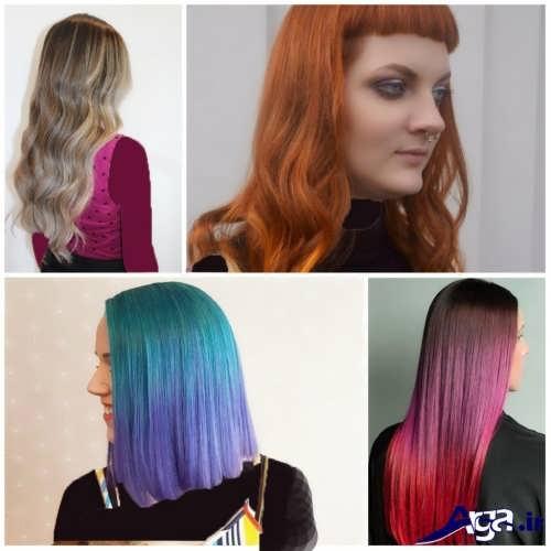 رنگ موهای سال 2017 برای خانم های زیبا