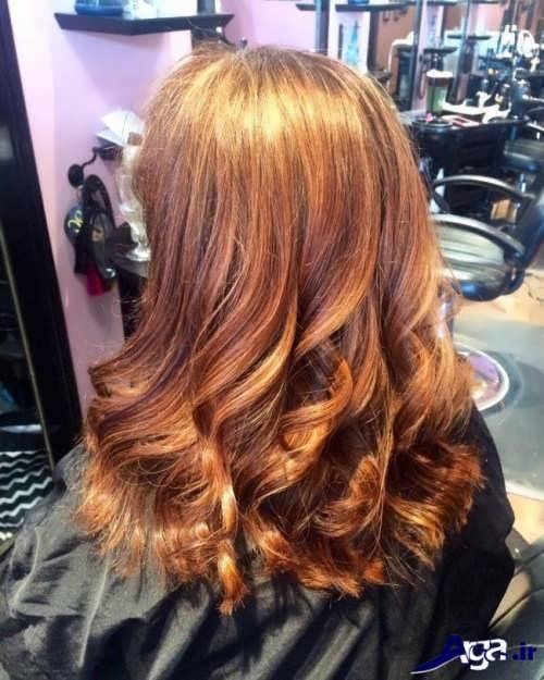 رنگ موی هایلایت و لولایت قهوه ای