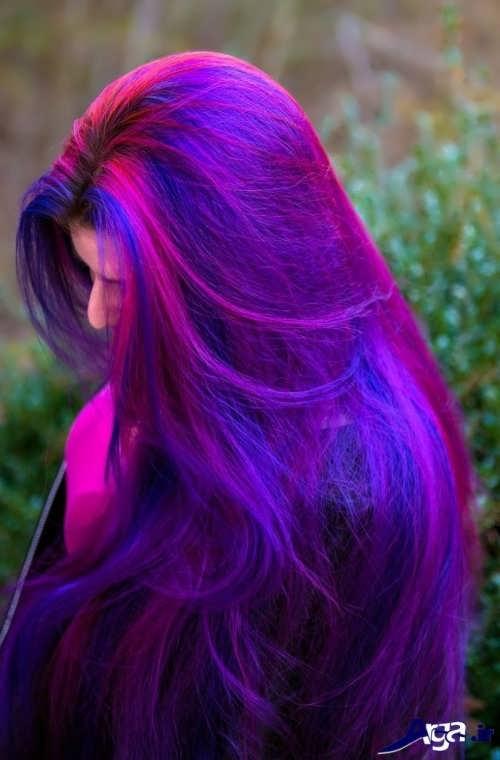 رنگ موی بنفش