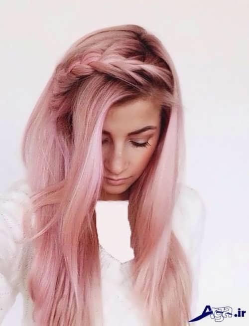 رنگ موی رز گلد 2017