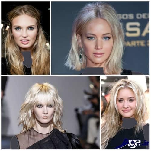 انواع رنگ موهای روشن سال 2017