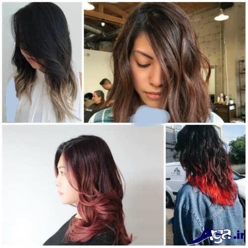 انواع رنگ موهای سال 2017