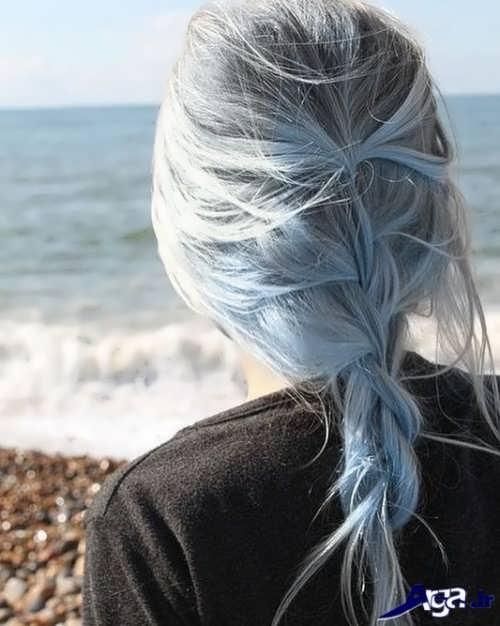 رنگ موی آبی خاکستری