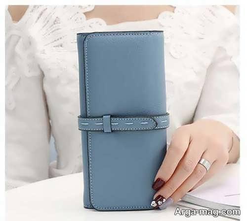 کیف پول چرمی دست دوز و زیبا