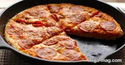 آموزش تهیه پیتزا مخلوط بدون فر