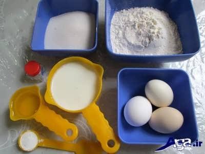 مواد لازم برای پخت کیک بدون فر