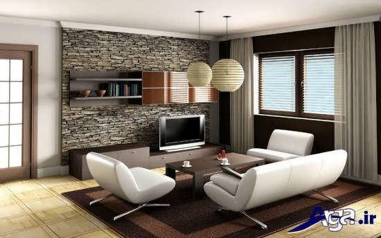 دکوراسیون اتاق نشیمن کوچک با طراحی شیک