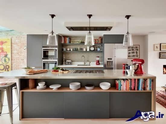 طراحی دکوراسیون شیک و کاربردی آشپزخانه کوچک