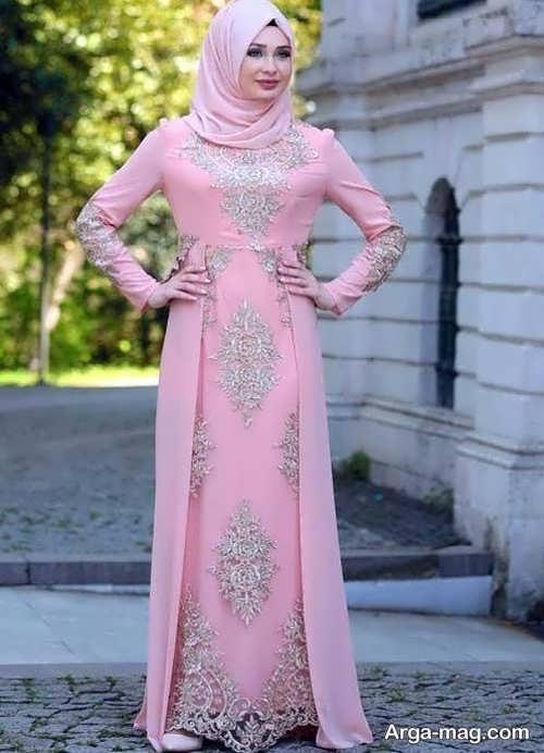 مدل لباس مجلسی بلند اسلامی