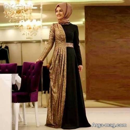 مدل خاص لباس مجلسی اسلامی