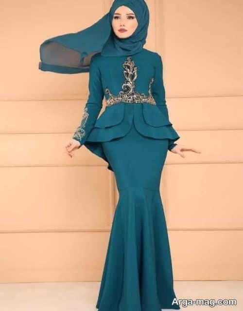 مدل فوق العاده لباس مجلسی اسلامی
