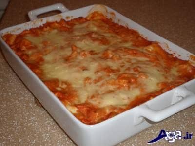 مراحل پخت لازاینا ایتالیایی در خانه