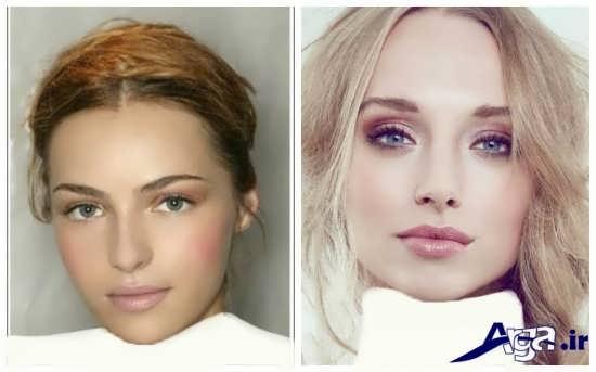 آرایش صورت دخترانه 2017