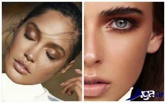 مدل های زیبا و جدید آرایش صورت