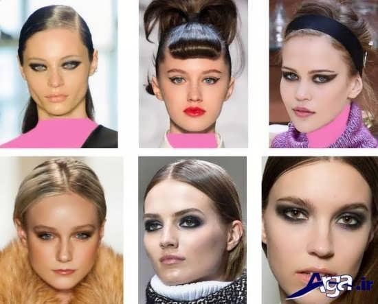 اواع مدل آرایش صورت 2017 دخترانه