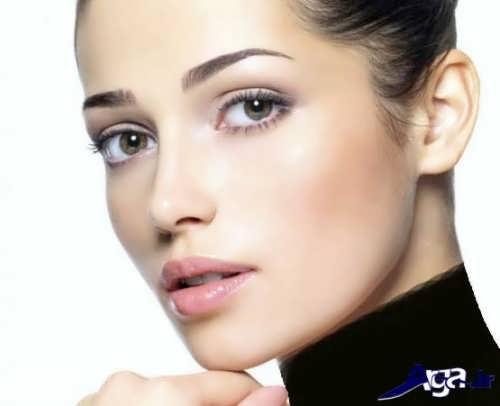 مدل آرایش ملایم برای صورت لاغر