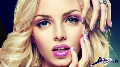 مدل آرایش زیبا و جذاب برای صورت لاغر
