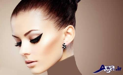 مدل آرایش زیبا برای صورت لاغر